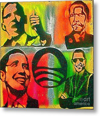 4 Barack  Metal Print by Tony B Conscious
