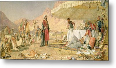 A Frank Encampment In The Desert Of Mount Sinai Metal Print by John Frederick Lewis