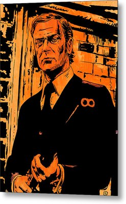 Michael Caine Metal Print by Giuseppe Cristiano