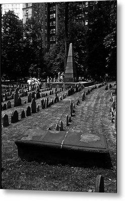 Old Boston Cemetery Metal Print by Thomas D McManus