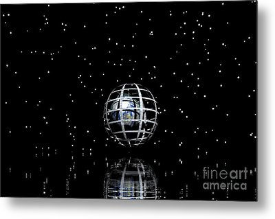 Planet And Stars Metal Print by Odon Czintos
