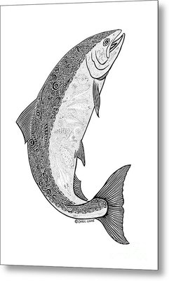 Salmon II Metal Print by Carol Lynne