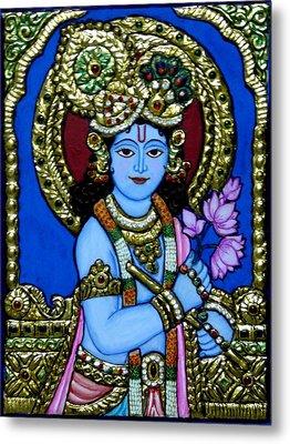 Tanjore Painting Metal Print by Vimala Jajoo
