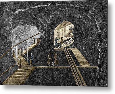 19th-century Mining Metal Print by Sheila Terry