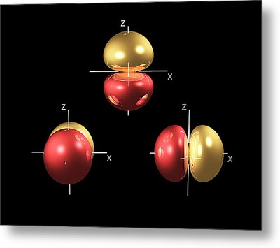 2p Electron Orbitals Metal Print by Dr Mark J. Winter