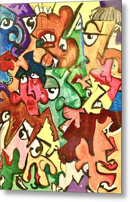 A Face In The Crowd Metal Print by Jame Hayes