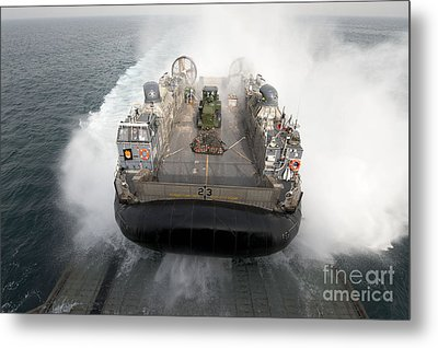A Landing Craft Air Cushion Enters Metal Print by Stocktrek Images
