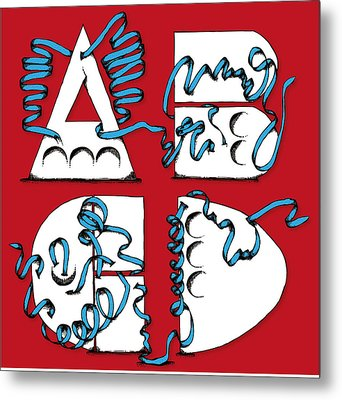 Abstract Abcd Metal Print by Michaela Mitchell