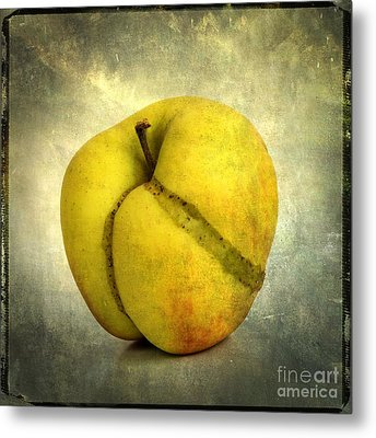 Apple Textured Metal Print by Bernard Jaubert