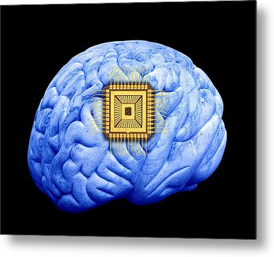 Artificial Intelligence And Cybernetics Metal Print by Victor De Schwanberg