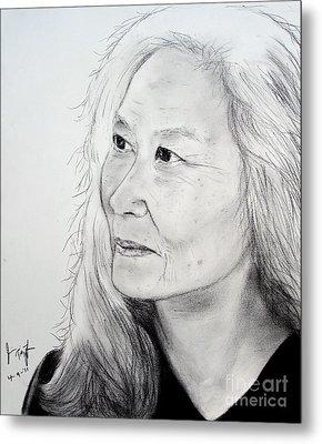 Author And Activist Maxine Hong Kingston Metal Print by Jim Fitzpatrick