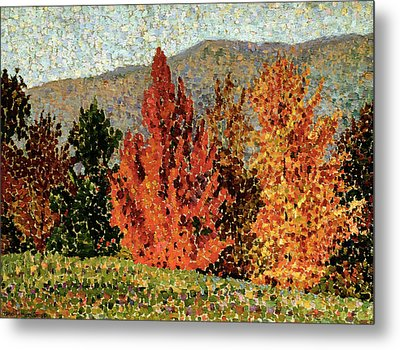 Autumn Landscape Metal Print by Henri-Edmond Cross