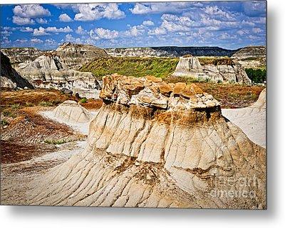 Badlands In Alberta Metal Print by Elena Elisseeva