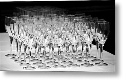 Banquet Glasses Metal Print by Svetlana Sewell