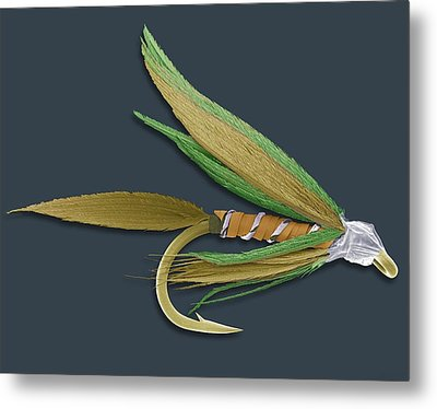 Barbed Fishing Fly, Sem Metal Print by Steve Gschmeissner