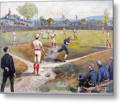 Baseball Game, C1887 Metal Print by Granger