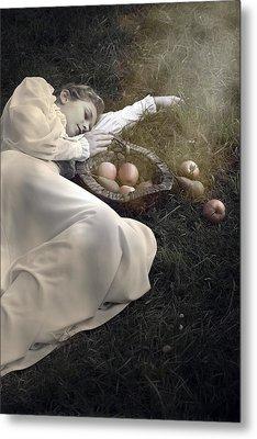Basket With Fruits Metal Print by Joana Kruse
