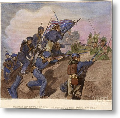 Battle Of Churubusco, 1847 Metal Print by Granger
