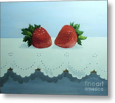 Berries And Lace Metal Print by Peggy Miller