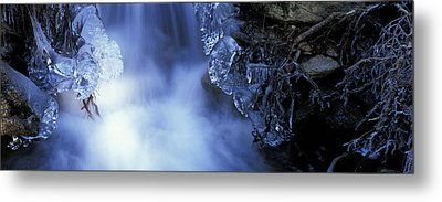 Blue Icy Waterfall Metal Print by Ulrich Kunst And Bettina Scheidulin