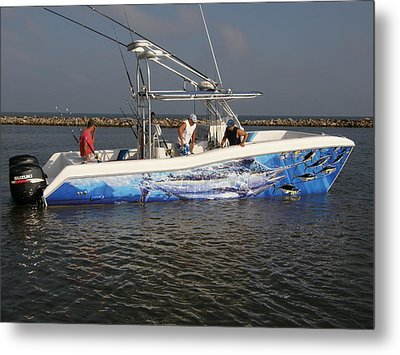 Boat Wrap Metal Print by Carey Chen