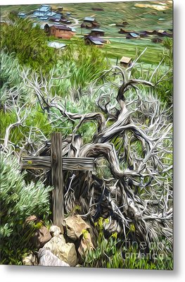 Bodie Ghost Town - Boot Hill 02 Metal Print by Gregory Dyer