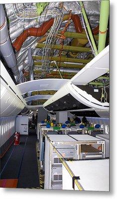 Boeing 747-8 Interior Metal Print by Mark Williamson