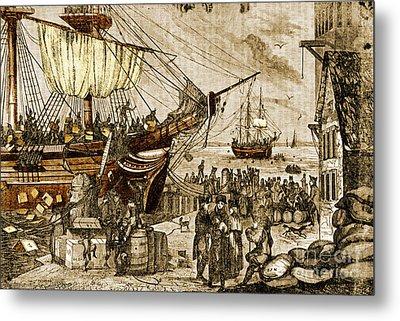 Boston Tea Party, 1773 Metal Print by Photo Researchers