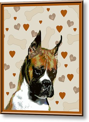 Boxer Metal Print by One Rude Dawg Orcutt