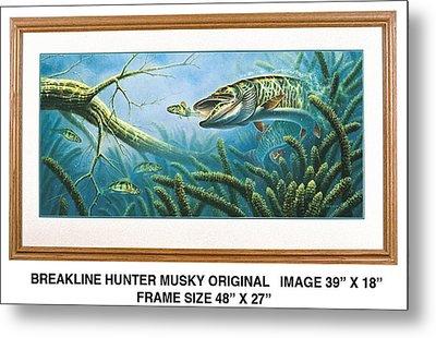 Breakline Hunter Musky Metal Print by JQ Licensing