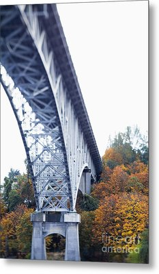 Bridge Footing And Anchor Point Metal Print by Don Mason