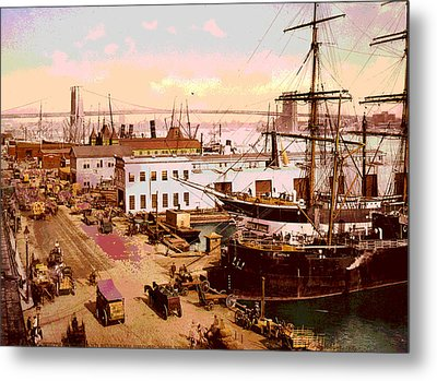 Brooklyn Bridge  Metal Print by Charles  shoup