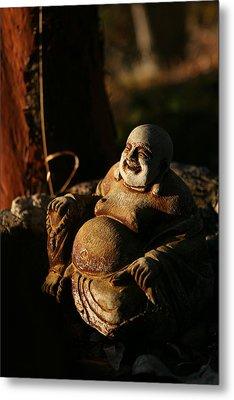 Buddha Of The Forest Metal Print by Lorraine Devon Wilke