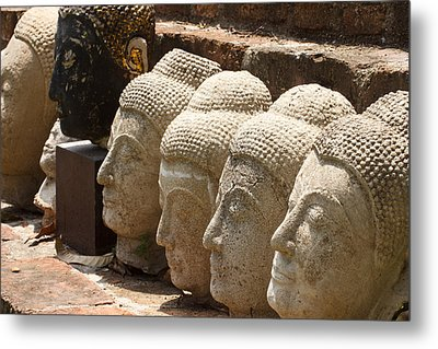 buddha statue in Thailand Metal Print by Thanawat  Wongsuwannathorn