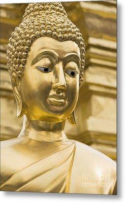 Buddha's Statue Metal Print by Roberto Morgenthaler