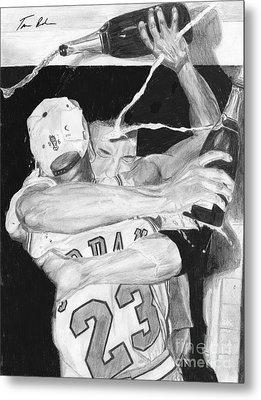 Bulls Celebration Metal Print by Tamir Barkan