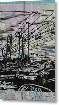 Burnet Road Metal Print by William Cauthern