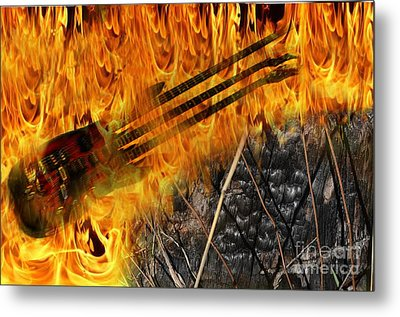 Burning Bridges Metal Print by The Stone Age