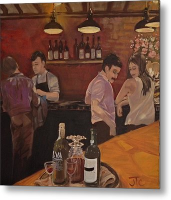 Cafe Metal Print by Julie Todd-Cundiff