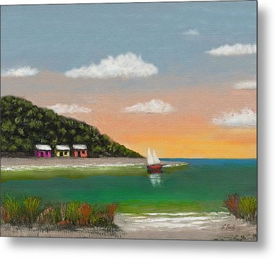 Canary Cove Metal Print by Gordon Beck