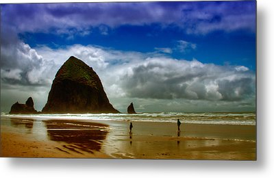 Cannon Beach At Dusk Metal Print by David Patterson