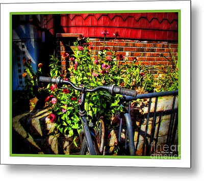 Cape Cod Bike Metal Print by Joan  Minchak