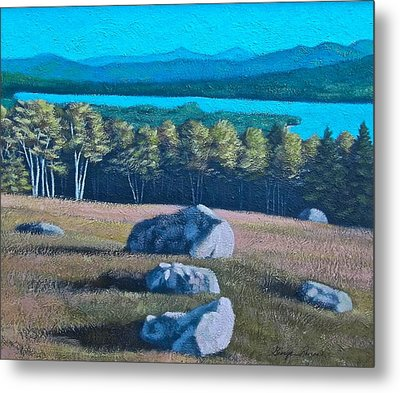 Center Hill Overlooking Webb Lake Metal Print by George Ramos