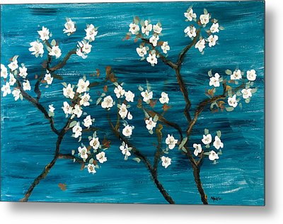 Cherry Blossoms Metal Print by Gretchen Martini