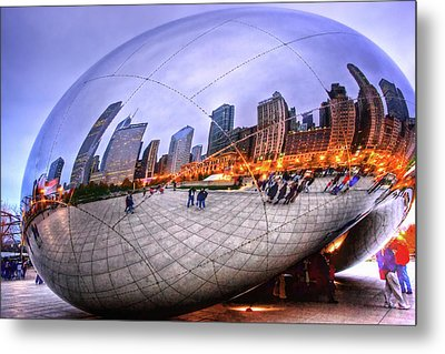 Chicago Bean Metal Print by Mark Currier