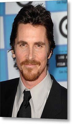 Christian Bale At Arrivals For 2009 Los Metal Print by Everett