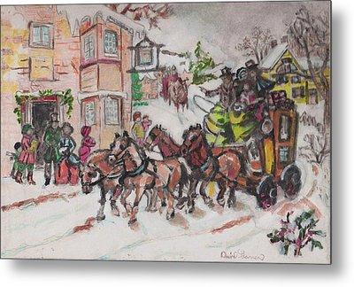 Christmas Buggy Metal Print by David Garren