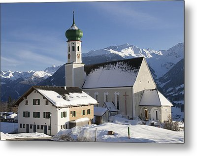 Church In Winter Metal Print by Matthias Hauser