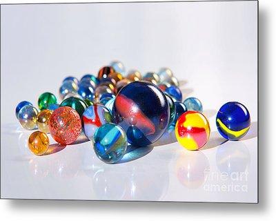 Colorful Marbles Metal Print by Carlos Caetano