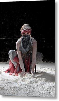 Dancing In Flour Series Metal Print by Cindy Singleton